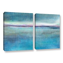 ArtWall Cora Niele's Landscape Early 2 Piece Gallery Wrapped Canvas Set, 24 by 36""