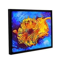 "ArtWall 18""x24"" Susi Franco's Two Sunflowers Gallery Wrapped Framed Canvas"