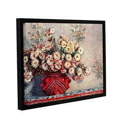 "ArtWall 18""x24"" Claude Monet's Red Vase Gallery Wrapped Framed Canvas"