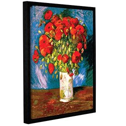 Vincent Vangogh's Poppies Gallery Wrapped Floater-Framed Canvas - 18x24""