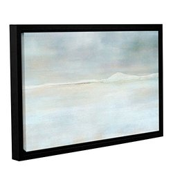 """ArtWall 16""""x24"""" Landscape Snow Gallery Wrapped Floater Framed Canvas"""