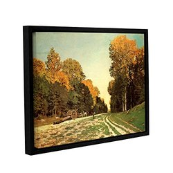 Claude Monet's Lumber Wagon Gallery Wrapped Floater Framed Canvas -18x24""