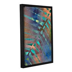 ArtWall Cora Niele's Leaf Pattern Gallery Wrapped Floater Framed Canvas, 12 by 18""