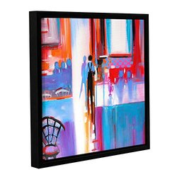 ArtWall Susi Franco's Dinner Service Gallery Wrapped Floater-Framed Canvas, 14 by 14""