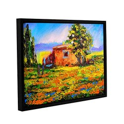 "ArtWall 18""x24"" Prarie Palace Gallery Wrapped Floater-Framed Canvas"