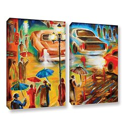 "ArtWall Susi Franco Italy Even Rain is Beautiful Canvas Set - 18""X24"" - 2Pc"