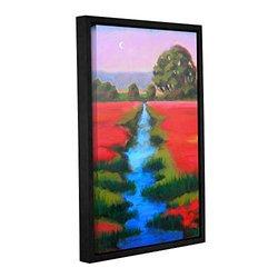 "ArtWall 16""x24"" Susi Franco's Provence Moonrise Framed Canvas"