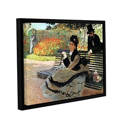 "ArtWall Claude Monet's ""Park Bench"" Gallery Wrapped Framed Canvas - 18"" x 24"""