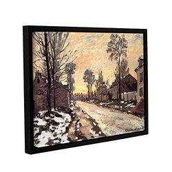 "ArtWall Claude Monet's ""Snowy Country Road"" Gallery Framed Canvas - 18"" x 24"""