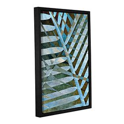 ArtWall Cora Niele's Palm Gallery Wrapped Floater Framed Canvas - 12 x 18""