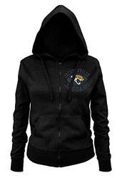 NFL Jacksonville Jaguars Ladies Zipped Hooded Fleece - Black - Size: M