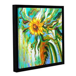 Franco's Sunflower Melting Gallery Wrapped Floater-Framed Canvas - 18x18""