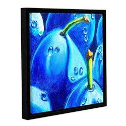 "ArtWall 18""x18"" Susi Franco's Plum Juicy Dew Drops Framed Canvas"