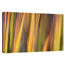 """ArtWall Cora Niele's Vivid Green Gallery Wrapped Canvas - 12"""" X 24"""""""