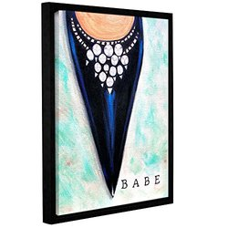 "ArtWall 18""x24"" Susi Franco's Babe Gallery Wrapped Floater-Framed Canvas"