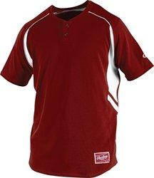 Rawlings Boy's 2-Button Jersey, Cardinal, Large