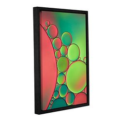 "Cora Niele's Gallery Wrapped Floater Framed Canvas 16x24"" - Green"