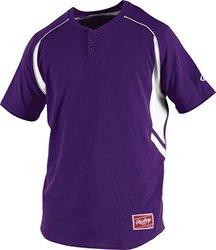 Rawlings Boy's 2-Button Jersey, Purple, X-Large