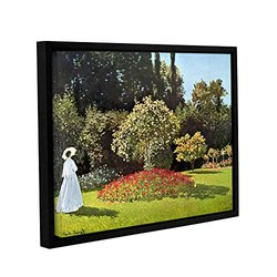 "ArtWall Claude Monet's Woman in Park Framed Canvas - 18""X24"""