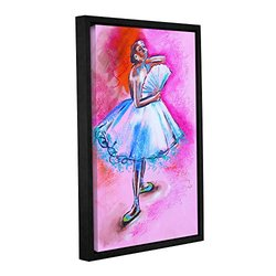 Susi Franco's Ballerina Gallery Wrapped Floater - Framed Canvas 12 x 18""