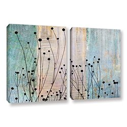 Cora Niele's Dark Silhouette 2 Piece Gallery Wrapped Canvas Set - 24x36""