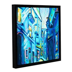 Franco's Magical Alleys of Venice Wrapped Floater-Framed Canvas -18x18""