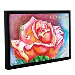 "ArtWall Susi Franco's Pink Rose Dew Framed Canvas - 16""X 24"""