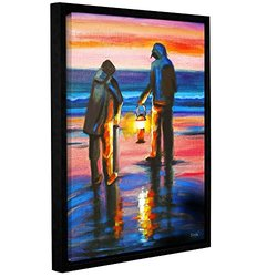 "ArtWall Susi Franco's Night Clammers Canvas - 18""X24"""