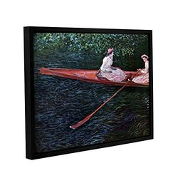 ArtWall Claude Monet's Canoe Gallery Wrapped Floater Framed Canvas 14x18""