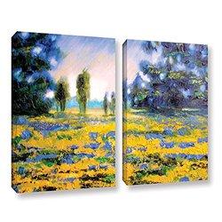 "ArtWall Susi Franco's Sea of Butter Canvas Set, 24"" X 32"" - 2Piece"