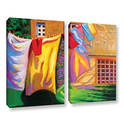 ArtWall Susi Franco's French Laundry 2 Piece Gallery Wrapped Canvas Set, 18 by 24""
