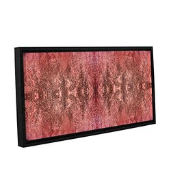 12in H X 24in W Framed Natural Damask by Cora Niele - 1 Piece