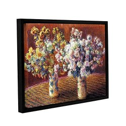 "ArtWall 18""x24"" Claude Monet's Two Vases Gallery Wrapped Framed Canvas"