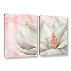 ArtWall Cora Niele's Focus Track 2 Piece Gallery Wrapped Canvas Set, 24 by 36""
