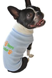 Ruff Ruff and Meow Dog Tank Top, Happy Easter, Blue, Extra-Large