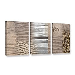 ArtWall Cora Niele's Wind 3 Piece Gallery Wrapped Canvas Set, 18 by 36""