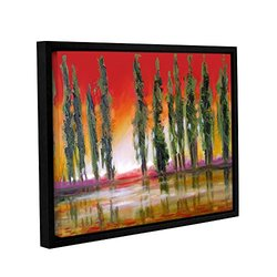 Susi Franco's Tuscan Cypress Sunset Gallery Floater-Framed Canvas - 18x24""