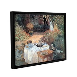 Claude Monet's Garden Picnic Gallery Floater Framed Canvas - 18x24""