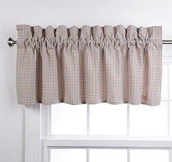 Stylemaster Home Products Renaissance Home Fashion Essex Woven Lined Valance, 54 by 18-Inch, Aquamarine