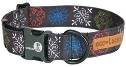 """eco-Lucks Holiday Dog Collar, Urban Ice, Medium 12"""" x 20"""""""
