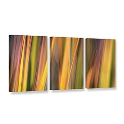 18in H X 36in W Vivid Green by Cora Niele - 3 Pieces