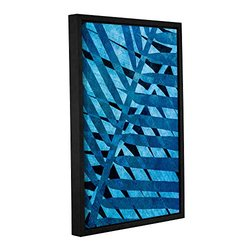 ArtWall Cora Niele's Denim I Gallery Wrapped Floater Framed Canvas, 12 by 18""