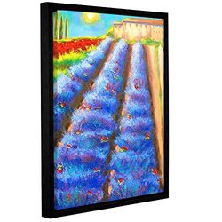 "ArtWall Susi Franco's Provence Rows Framed Canvas - 18"" X 24"""
