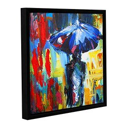 "ArtWall Susi Franco's Downtown Stroll Gallery Framed Canvas - 14"" X 14"""