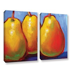 """ArtWall Susi Franco's Gang of Pears Canvas Set - 24"""" X 32"""" - 2Piece"""
