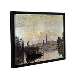 14in H X 18in W Framed Dock by Claude Monet - 1 Piece