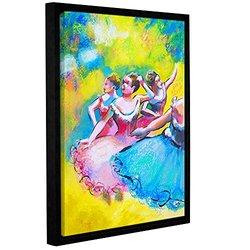 ArtWall Susi Franco's Interpretation of Three Ballerinas Gallery Wrapped Floater-Framed Canvas, 14 by 18""