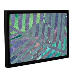 """Cora Niele's Leaf Shades III Gallery Wrapped Floater Framed Canvas 12x18"""""""