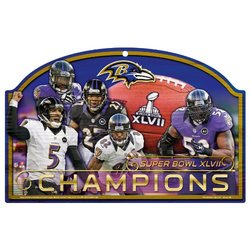 "NFL Baltimore Ravens 11""x17"" Super Bowl XLVII Champions Wooden Sign"