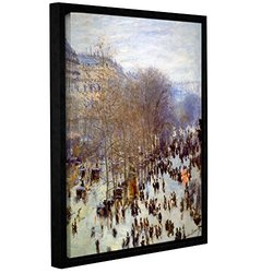"ArtWall Claude Monet's ""Boulevard Capucines"" Framed Canvas - 18"" x 24"""